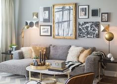 Grey Wall Living Room 30 elegant living room colour schemes | living rooms, modern and gray