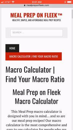 Macro Food Chart