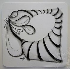 Zendoodle-way: Zentangle ® Love, love, love how pepper was shaded on this tile!