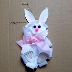 Create this adorable Big Bow Bunny to hang for Easter. The DIY Big Bow Bunny is a super fun kid's craft!