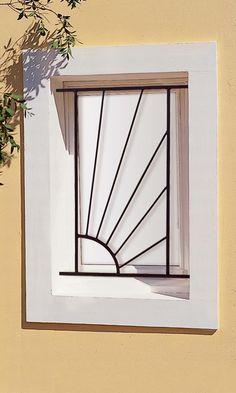 Grille de fenêtre en fer forgé Aurélie