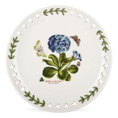 """Portmeirion Botanic Garden Pierced Plate 8.5"""" Primula $22.75, You Save $9.75"""