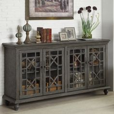 Awesome Large Media Cabinet with Doors