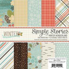 Simple+Stories+-+Winter+Wonderland+Collection+-+6+x+6+Paper+Pad+at+Scrapbook.com