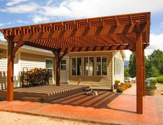Rich Sequoia Cantilevered DIY Pergola
