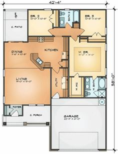 Plan 42370DB: Craftsman Cutie with Two Main Floor Masters   Bonus ...
