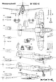 Messerschmitt Bf 109 blueprint