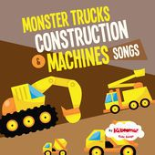 Monster Trucks and Construction Machines music album for kids!  #kidsongs #transportation