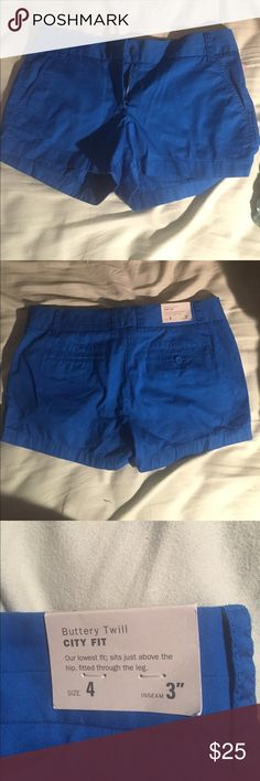 Bright blue J. Crew shorts Brand New, Never Worn J.Crew Factory Shorts