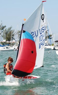Opti Sailing with Spinnaker