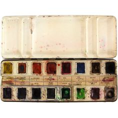 Prang Watercolor Paint Set 16 Colors Vintage Paints ($395) ❤ liked on Polyvore featuring home, home improvement, paint and filler