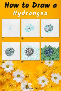 Flower Drawing For Kids, Simple Flower Drawing, Easy Flower Drawings, Flower Drawing Tutorials, Drawing Lessons For Kids, Simple Flowers, Easy Drawings, Flower Drawing Tutorial Step By Step, Drawing Guide