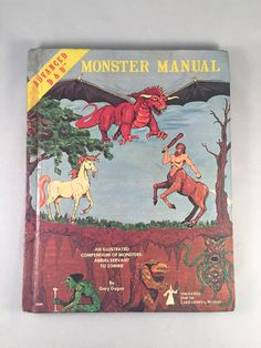 Vintage Advanced Dungeons and Dragons Monster Manual 4th Edition 1979 TSR Gygax