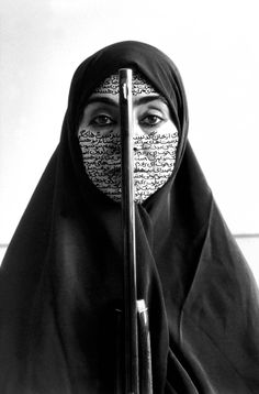 """Shirin Neshat at LACMA x & Art Now& exhibition. Shirin Neshat at LACMA x """"Islamic Art Now"""" exhibition.Shirin Neshat, """"Fervor"""" February a new exhibition is held at on the Is Shirin Neshat, Walker Evans, Iranian Art, Iranian Women, Political Art, Political Issues, Feminist Art, Feminist Quotes, Art Icon"""