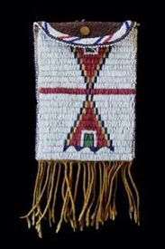 Saddle bag made by the Cheyenne people.