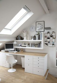 Ideas for #homeoffice   Interior Design   Decoration   Organization   Architecture   Desk   Beautiful Home Offices   Bright Bold and Beautiful   Home office decor ideas.