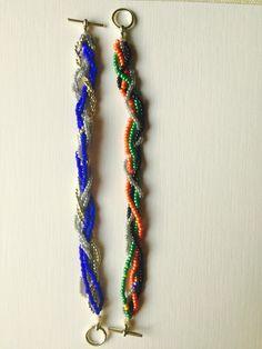 Twisted Beady Bracelet by Dresstress on Etsy https://www.etsy.com/listing/222606122/twisted-beady-bracelet