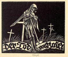 Rudolf Schiestl: 'Der Tod von Basel', 1924.