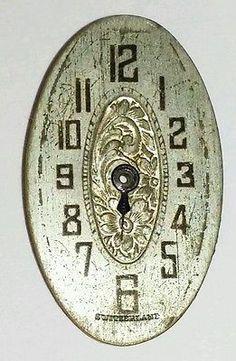 Vintage-Art-Deco-fancy-ladies-mechanical-watch-dial-face-part-blued-hand-19Q
