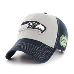 new style 75255 e15b3 NFL Seattle Seahawks Tuscon OTS Challenger Adjustable Hat, Navy, One Size