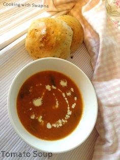 This homemade tomato soup is creamy, full of flavours and hearty. Amazingly this tastes awesome and simple to make. It's warm, cozy a...