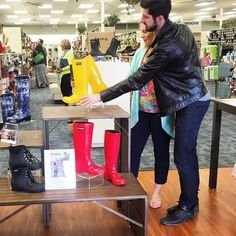 Touring the stores. #RomaBoots #foryouforall #phillipsshoes #Charleston