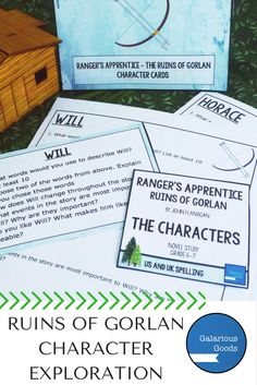Ranger's Apprentice, The Ruins of Gorlan - Character Exploration  Take a deeper look at the characters of The Ruins of Gorlan with this resource from Galarious Goods