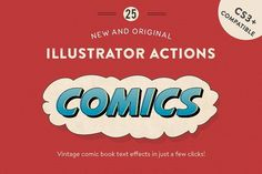 Vintage Comic Press - AI Actions by Greta Ivy on @creativemarket