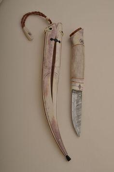 Puukko with antler handle and sheath | Suomen Puukkoseura ry