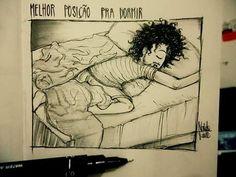 Melhor posição pra dormir .  .  Minha tag compartilhe por favor   #1garotosolitario   Siga também meu amigo  @anthonny_lp