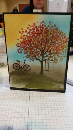 Sheltering tree by Stampin up. Made by me.