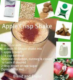 apple crisp, shake, body by vi, weight loss,