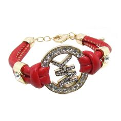 Michael Kors Rhinestone Logo Red Accessories Outlet