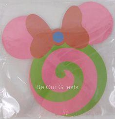 Disney Parks Minnie Mouse Candy Jumbo Sticky Notepad New