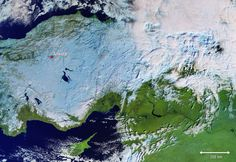 While snow continues to cause chaos in Austria and Germany, the cold snap has also reached Turkey as shown in this Copernicus image from 9 January. Latest Discoveries, Space Photos, Earth From Space, Source Of Inspiration, Astronomy, Remote, Germany, Snow, Painting