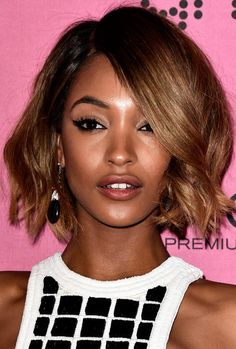 Jourdan Dunn Short Wavy Cut Jourdan Dunn was gorgeously coiffed with this wavy bob at the Victoria's Secret fashion show after-party.