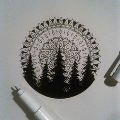 Bonus: Mandala Treeline - 31 of the Prettiest Mandala Tattoos on Pinterest - Photos