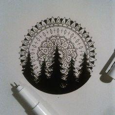 Bonus: Mandala Treeline - 31 of the Prettiest Mandala Tattoos on Pinterest - Photos