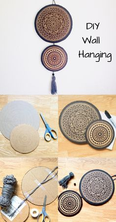 DIY Cardboard Wall Hangings, Home Decor – cardboard crafts diy Boy Diy Crafts, Diy Crafts For Adults, Diy Crafts Hacks, Diy Arts And Crafts, Decor Crafts, Diys, Diy Wall Art, Diy Wall Decor, Diy Wall Hanging