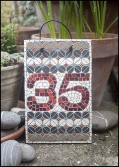 Mosaic house number (made to order) £65.00