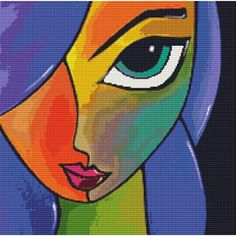 Portrait. Abstract ... Cross Stitch !!!