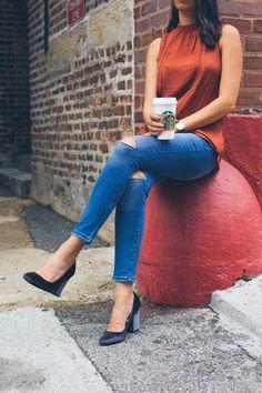 target velvet heels, fall shoes, chicago style blogger