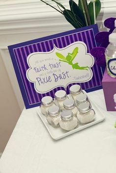 "Photo 7 of 11: Purple and Lime Whimsical / Birthday ""Tinkerbell Inspired Fairy Party"" 