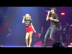 ▶ Luke Bryan Taylor Swift Nashville I Don't Want This Night To End Red Tour September 19 2013 HD - YouTube