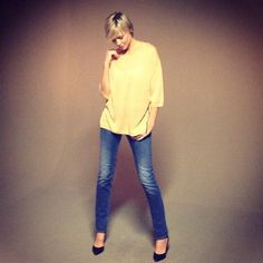 Perfectly Basics SS/13 shoot. Top | By Malene Birger, Jeans | Armani Jeans