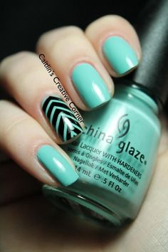 Summer nail art ideas. For the other seasons, you can put a color that you would think matches that season and still have the stripes on the ring finger. And will look nice with any oufit!!! !!!!!!!!!!