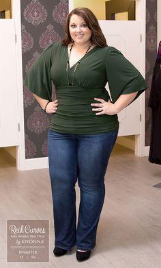 Real Curves for Keira Kimono Sleeve Top
