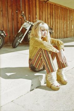Tavi Gevinson. Very 70's looking, which I typically shun, but I like this.