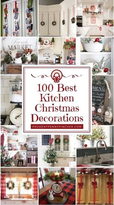 100 Best Kitchen Christmas Decorations Give your kitchen a festive makeover with these kitchen Christmas decorations. From rustic to farmhouse Christmas kitchens, there are plenty of ideas. Farmhouse Christmas Kitchen, Country Christmas, Simple Christmas, Christmas Holidays, Christmas Wreaths, Christmas Ornaments, Christmas Vacation, Christmas 2019, Christmas Island