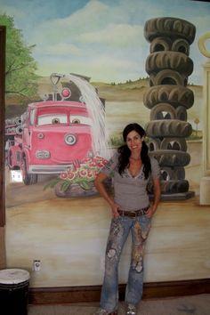 Pixar CARS Wall Mural